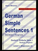 German Simple Sentences 1, Klara Wimmer, © German-Reader.com, All Rights Reserved