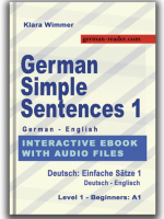 German Simple Sentences 1 - Interactive ebook with audio files, www.german-reader.com, © All Rights Reserved, Klara Wimmer